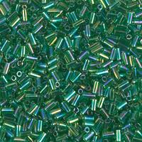 Стекярус 5грам BGL1-179:  3Бисер 5грам МИКС MM Miyuki Bugle Bead Transparent Green AB
