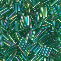 Стекярус 5грам BGL2-179:  6Бисер 5грам МИКС MM Miyuki Bugle Bead Transparent Green AB
