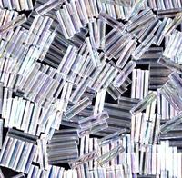 Стекярус 5грам BGL2-250:  6Бисер 5грам МИКС MM Miyuki Bugle Bead Crystal AB