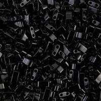 Бисер половинка Tila 5грам HTL-401:  Black Miyuki Half Tila