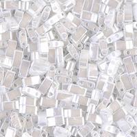 Бисер половинка Tila 5грам HTL-420:  White Pearl Ceylon Miyuki Half Tila