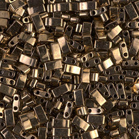 Бисер половинка Tila 5грам HTL-457:  Metallic Dark Bronze Miyuki Half Tila