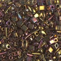 Бисер 5грам МИКС MM-012:  Multi Mix - Metallic Gold Iris (462)