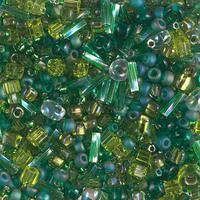 Бисер 5грам МИКС MM-025:  Multi Mix - Ever Green